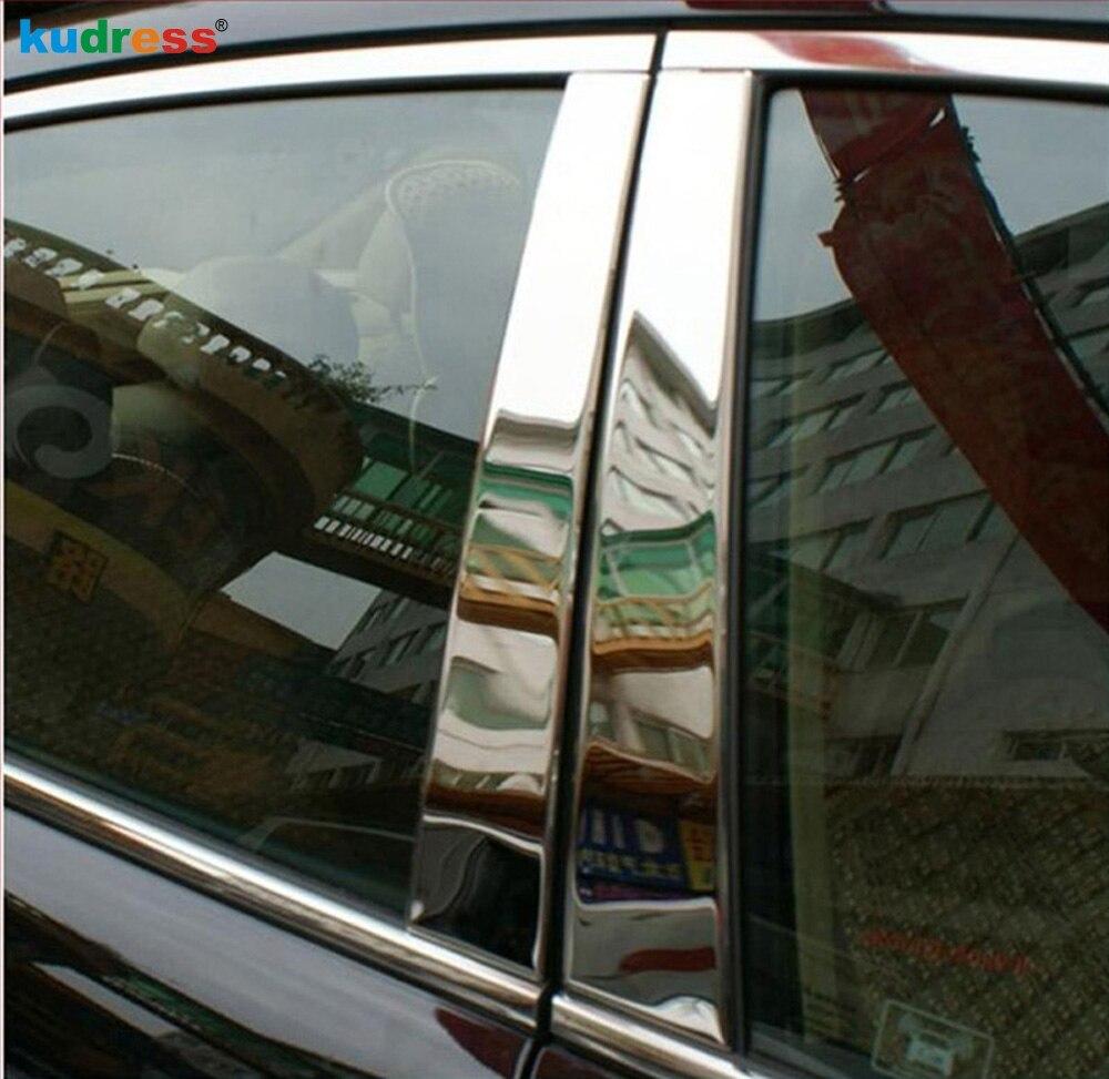 Pour Mazda CX7 CX-7 2007 2008 2009 2010 2011 Acier Inoxydable Fenêtre Versions Centre Piliers B + C Pilier Couvre accessoires 6 pcs