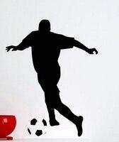 Fashion Football Vinyl Wall Decal Sport Football Man Player Housewares Bedroom Soccer Mural Wall Sticker