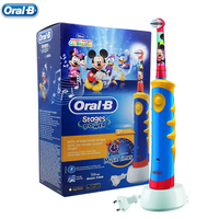Oral B Children Kids Recharging Electric Toothbrush Brush Heads D10 Waterproof Deep Clean Music Timer Tooth