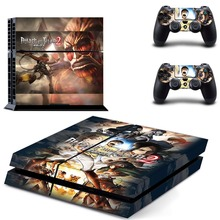 Anime Attack on Titan PS4 Skin Sticker Decal Vinyl for Sony Playstation 4 Console and 2 Controllers PS4 Skin Sticker