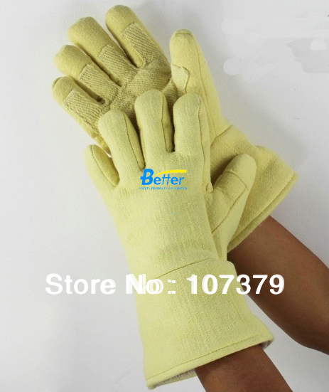 EN407 Para-aramid Fibers 500 Centigrad Extreme Heat Resistant Oven Glove for Cooking Flame-retardant Anti-scalded BBQ Work Glove 1 pair free shipping aramid fire insulation gloves heat resistant glove 932f bbq glove oven kitchen glove direct supply