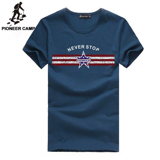 PioneerCamp Бесплатная доставка мужская новая мода майка хлопок фитнес коротким рукавом мужчины футболка мужская одежда клянусь хип-хоп