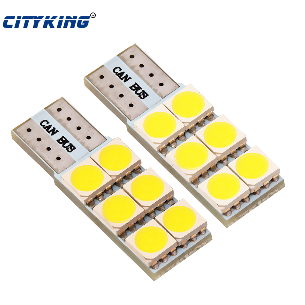 Free shipping T10 led canbus White light t10 6SMD 168 5050 smd W5W LED Visor Mirror Lamp Bulbs Car Side Wedge Light 4x canbus error free t10 194 168 w5w 5050 led 6 smd white side wedge light bulb