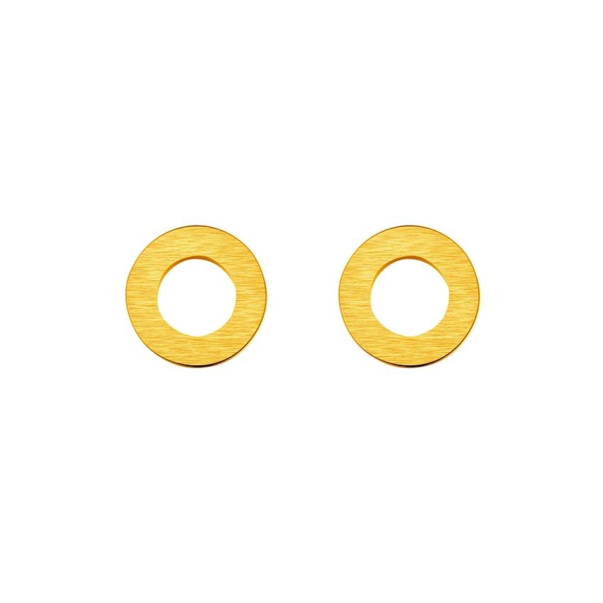 Geometric Brincos Para As Mulheres Rose Gold Circle Stud Earrings Women Men Jewelry Stainless Steel Round Earrings Bijoux Femme