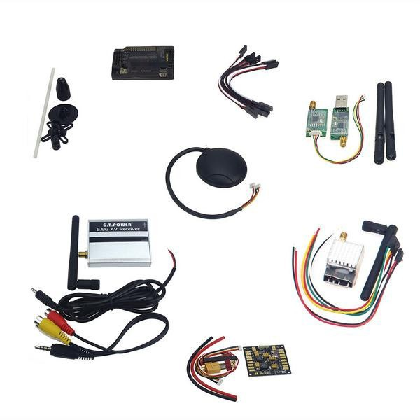 APM2.8 Flight Control,6M GPS,Power Distribution Board, GPS Folding Antenna5.8G 250mW TX,3DR Radio Telemetry Kit for DIY F15441-F