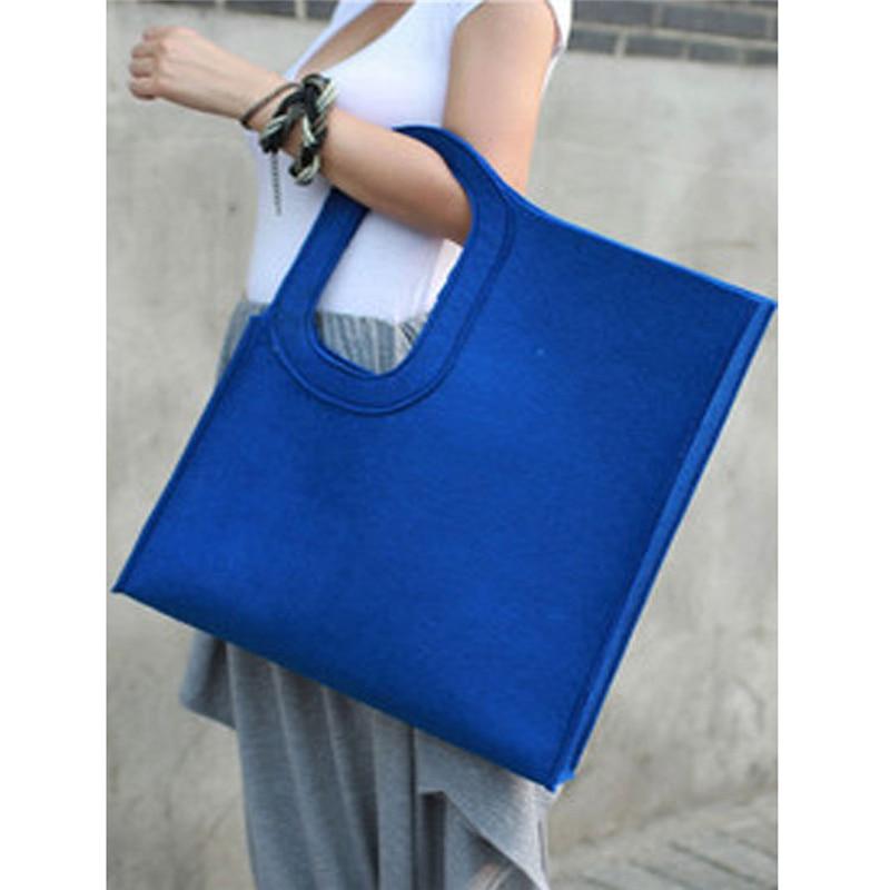Lady Tote Bag Creative Vertical Square Trend Felt Bag For Women Handbag Solid Hand Made Bag Casual Shoulder Bag Save 50-70% Luggage & Bags