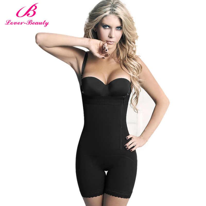 b55eb0832070a Lover Beauty Women s Seamless Firm Control Shapewear Open Bust Bodysuit  Slimming Body Shaper Underbust Black Full