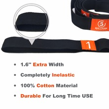 Yoga Stretch Strap Elasticity Yoga Strap with Multiple Grip Loops Yoga