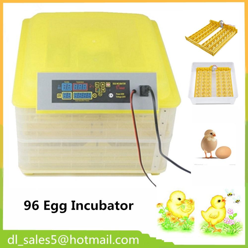 Mini Incubator For Chicken Duck Goose Quail Birds Automatically Turn Eggs 96 2pcs lot mini incubator 144 eggs quail incubator 36chicken incubator wq 36
