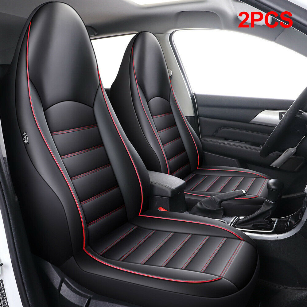 Black Red Leather Car Seat Covers Cover Set For Dodge Caliber 2006-2009