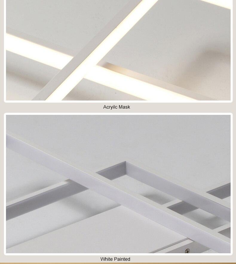 HTB1uuHraJzvK1RkSnfoq6zMwVXav NEO Gleam Rectangle Aluminum Modern Led ceiling lights for living room bedroom AC85-265V White/Black Ceiling Lamp Fixtures