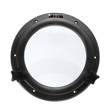 Durable 21cm Black RV Car Boat Yacht Window Round Shape Opening Portlight Hatch Touring Car Replacement Porthole Boat Accessory