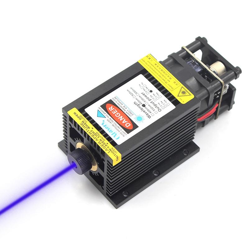 Oxlasers lourds 5500 mw 5.5 W modules laser bleu focalisables avec grand dissipateur de chaleur pour CNC bricolage laser routeur en bois avec PWM