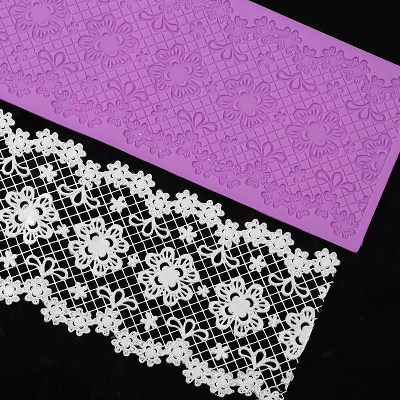Yueyue Sugarcraft 1 pc newest  flower silicone lace  mold fondant mold cake decorating tools chocolate gumpaste mold