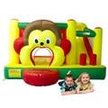 Yard macaco casa do salto inflável jumper com cesta de basquete incluem ventilador oferta especial para a ásia
