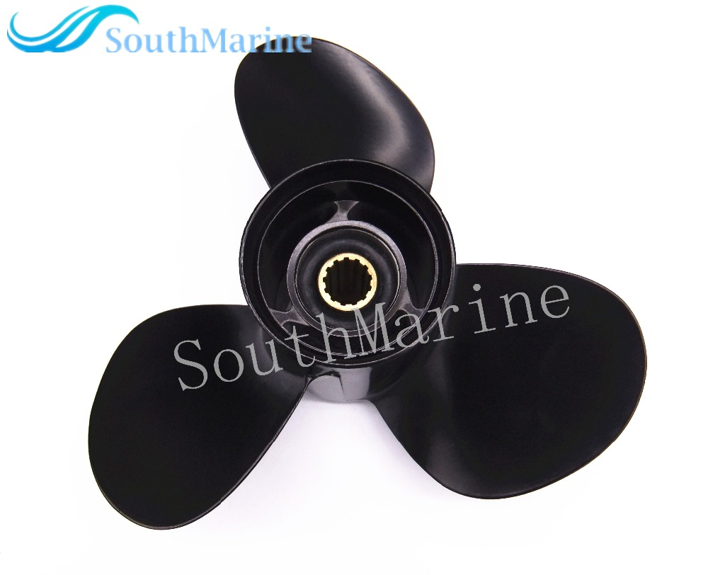 Aluminum propeller for suzuki 40hp 50hp 55hp outboard for 11 1 8 x 13 g yamaha