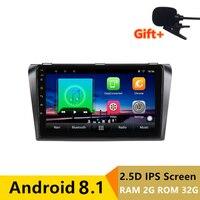 9 inch 2G RAM 32G ROM Android Car DVD Video Player GPS for Mazda 3 Mazda3 2004 2009 audio car radio stereo navigation headunit
