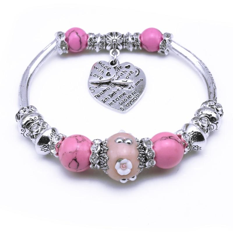 HouBian New Fashion Indonesia Beads Silver Bracelets & Bangles Best Design Bracelets for Women Fine Jewelry Valentine's Day Gift