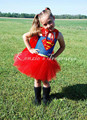 Superman Batgirl Girls Tutu Dress Costumes Cosplay Girl Kids Dress Knee Length Fluffy Halloween Party Girls Costume PT61