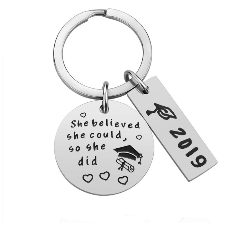 Infinity Collection Graduation Keychain for Girls Class of 2019 Edition She Believed She Could So She Did Graduation Gift for Graduates