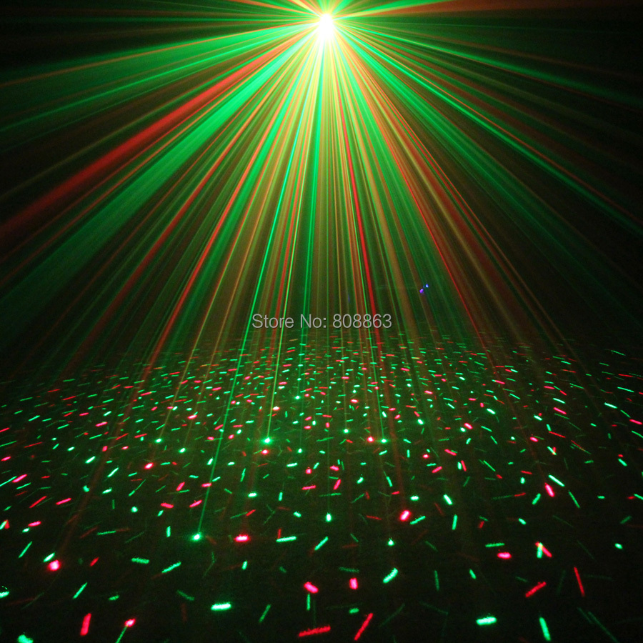 ESHINY MINI Small R&G Laser Full stars Projector DJ Dance Disco Bar Family Party Xmas Effect Stage Effect Light Show Y10 4