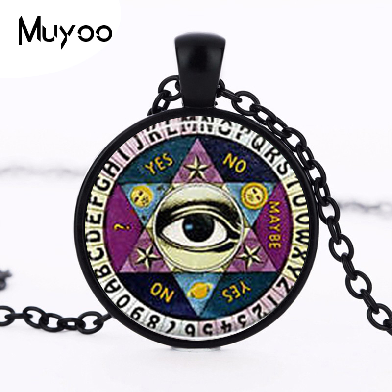 New Ouija board Necklace Drama Gravity Falls Mysteries BILL CIPHER WHEEL Steampunk Pendant doctor who men vintage chain HZ1