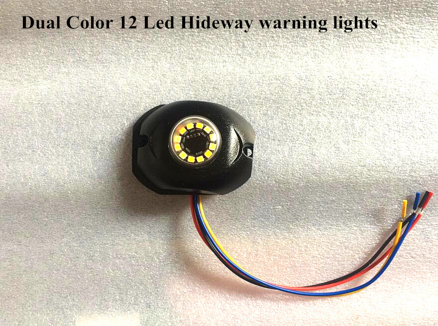 ФОТО Dual color 12W Led car Hideaway warning lights,grill emergency light,side marker signal lights,35flash,waterproof,2pcs/1lot