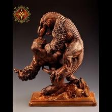 OGRM Bronze Crafts King Kong Fight Tyrannosaurus Rex Dragon Sculpture Bronze Statue Model Figure Pre-order