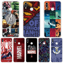 Marvel Avengers Case For Huawei Honor 10 Lite Casos capa tpu macio Para Huawei Honor 9 8X 7A Pro 10i 20i 8C 8 V9 Jogar 6 7X Coque(China)