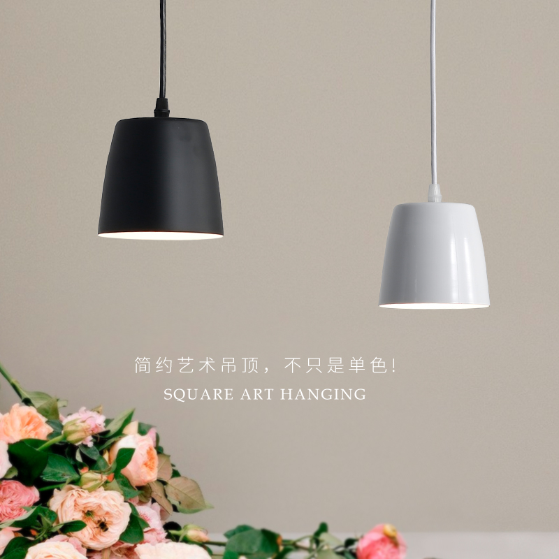 New Lighting Modern Pendant Light Black White Pendant Light Bar Restaurant Lighting for Bar counter bedside Wood pendant lamp