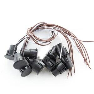 Image 3 - Brązowy kolor przewodowy przełącznik magnetyczny Alarm otwartych drzwi ukryte instalacji NC wyjście przekaźnikowe czujnik magnetyczny