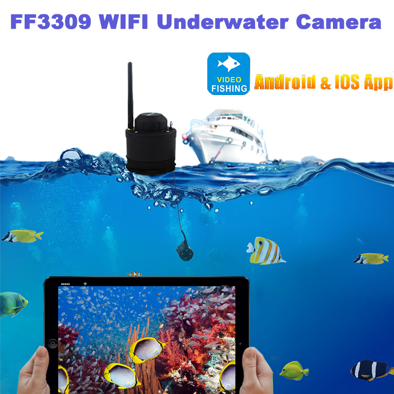 LUCKY FF3309 Portable Fish Finder Wifi Underwater Camera 80m Wireless Operating range Depth Finder High Quality PK FF3308 #C1