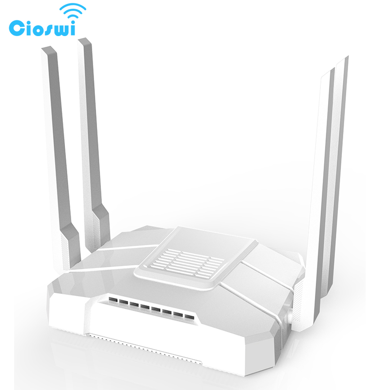 2.4g/5g wifi router with sim card slot ac1200Mbps dual band openWRT 512MB with 4*5dbi external antennas soho gigabit router-in Wireless Routers from Computer & Office