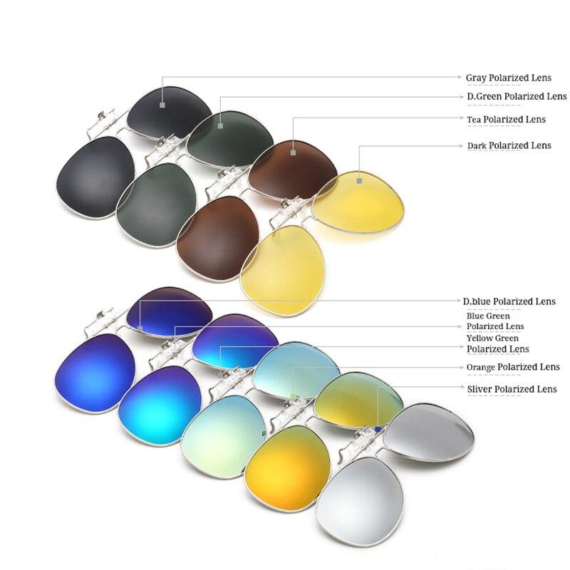 9f0b3e841b RBUDDY Clip On Sunglasses Lens Polarized Men Mirror Driving Oval Night  Vision Optical Clip Sun Glasses Women Oculos Gafas De Sol-in Sunglasses  from Apparel ...