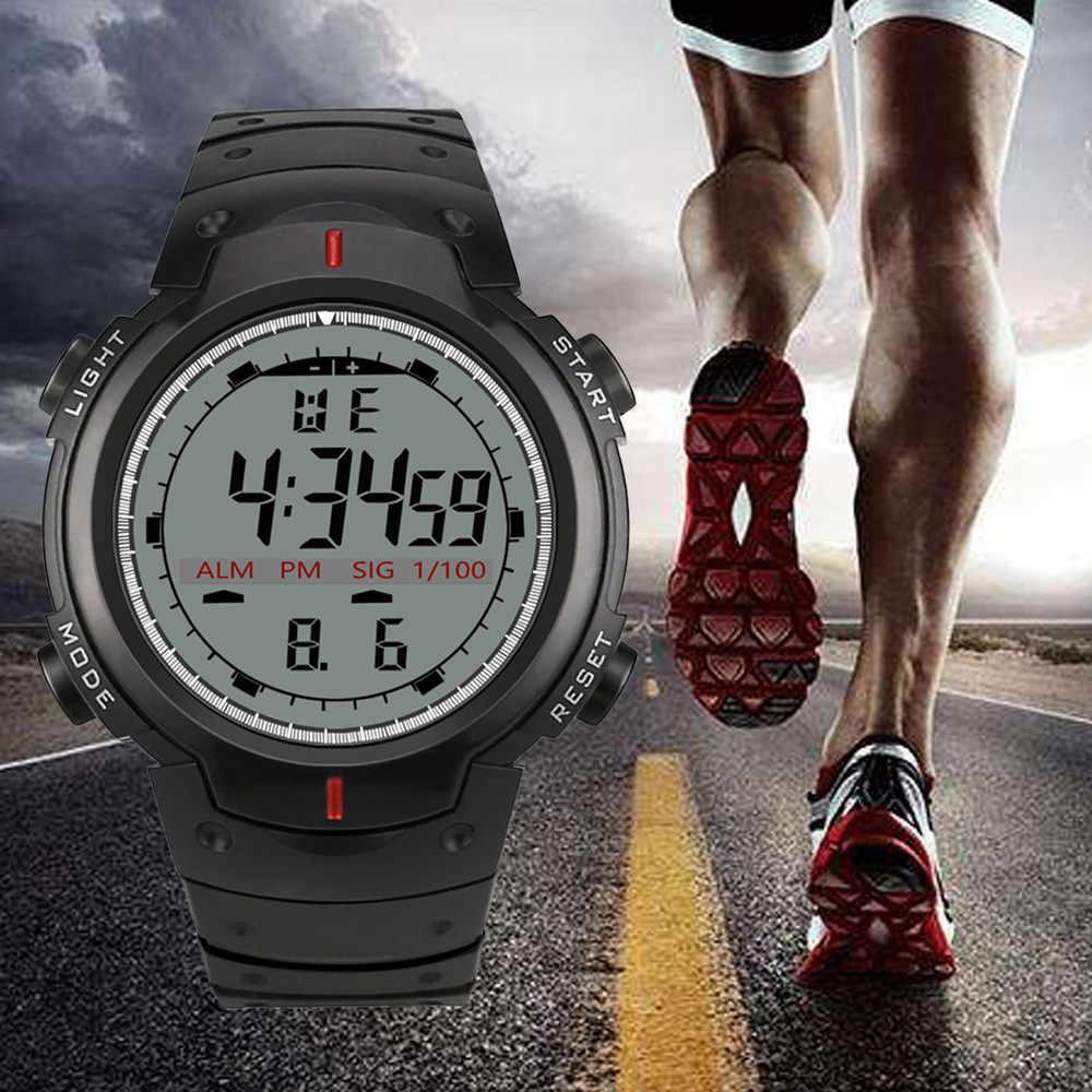 Sport Horloges Saat Erkekler Lichtgevende Horloge Man LED Digitale Plastic Casual Klok Voor Gift relojes para hombre F4