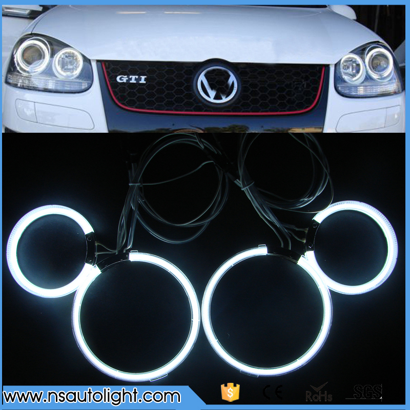 12V CCFL angel eyes one set 4rings 2inverters 95mm& 125mm angel eyes for projector lens for Golf 5 angel eyes car headlights for uaz patriot ccfl angel eyes rings kit non projector halo rings car eyes free shipping