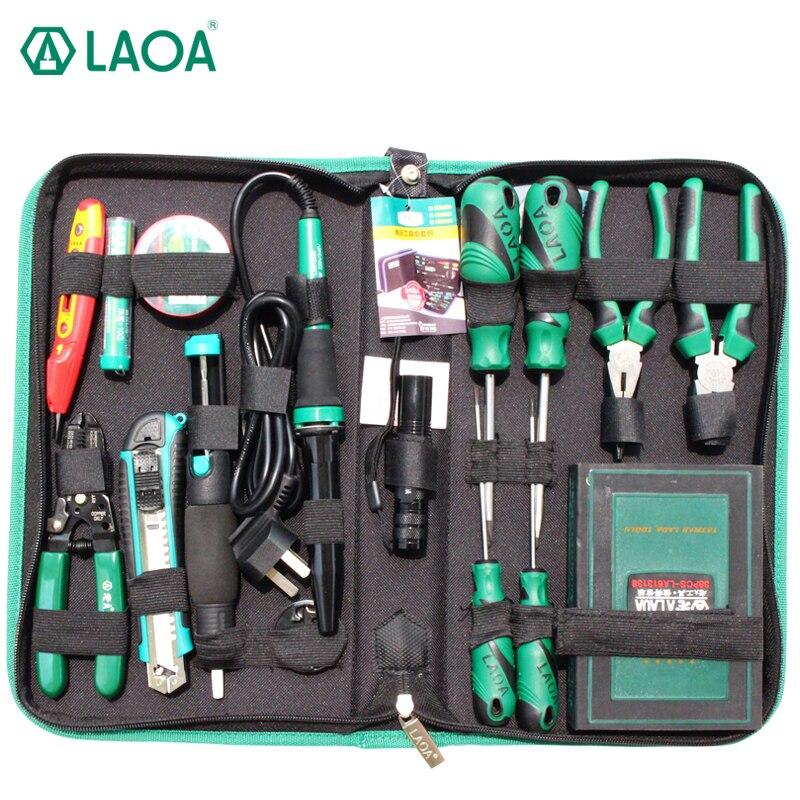 LAOA 53 PCS Électrique Fer À Souder Réparation Tool Set Tournevis Couteau Pince À Poignée Outils Pour La Réparation Iphone Samsung