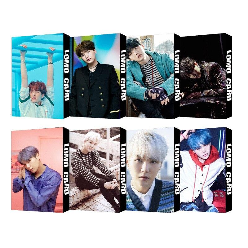 1 Box 30 Teile/satz Kpop Bts Bangtan Boys Min Yun Ki Suga 9 Einzelnen Foto Karte Pvc Karten Selbst Gemacht Lomo Karte Photocard Modische Muster