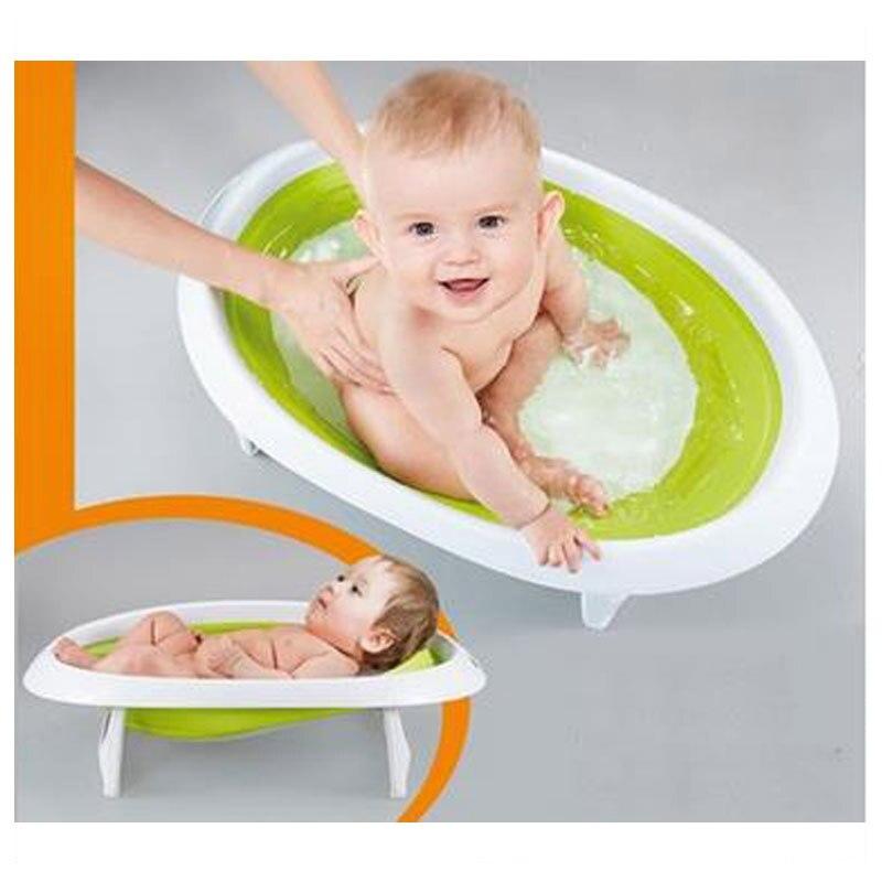 2 In 1 Foldable Newborn Baby Bathtub Baby Sitting Lying Shower Bath ...