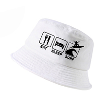 Eat Sleep Surf cap Men Women summer fisherman hat outdoor motion fishing caps Unisex pop harajuku bucket hats panama