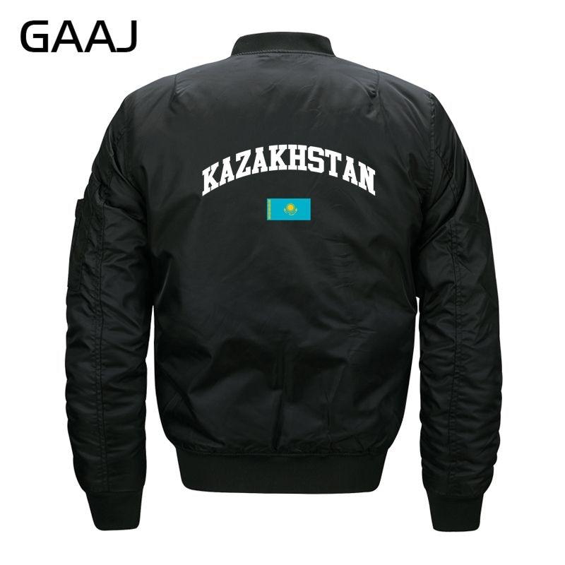 GAAJ Kazakhstan Flag Jackets Men Parka Streetwear Jacket For Male Windbreaker Military Style Militar O Neck Warm Winter #UE6MW
