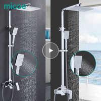 Micoe conjunto de chuveiro do banheiro torneira da banheira torneira do chuveiro do banheiro conjunto cachoeira bath sink faucet misturador água fria e quente