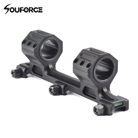Tactical Riflescope Rail Mount 25mm 30mm Hunting Scope Mount With Spirit Bubble Level For 20mm Picatinny
