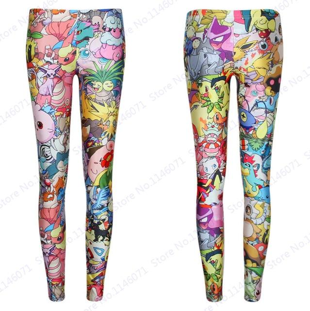 503b0baf6e68ee Pokemon Pencil Trousers Sexy Cute Pokemon Go Skinny Yoga Pants Ladies High  Waist Tights Compression Jeggings Slim Leggings