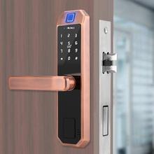 701 Bronze Fingerprint Lock Digital Electronic Door Home Anti-theft Intelligent