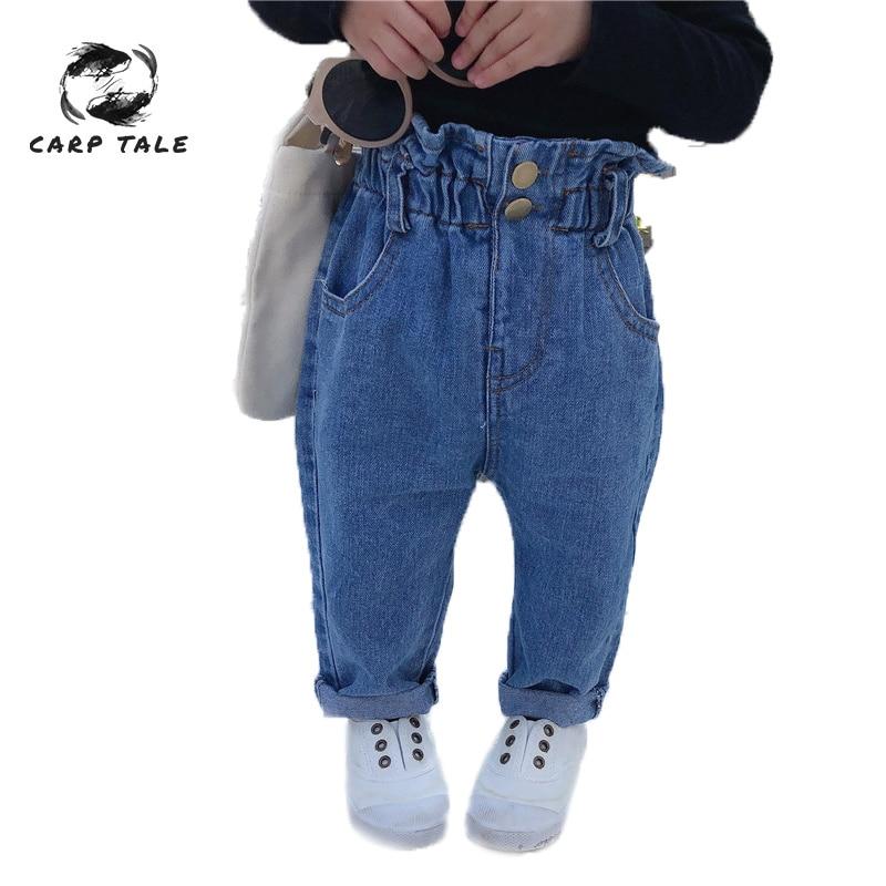 2019 Delle Ragazze Del Bambino Dei Jeans Casuali Dei Pantaloni Infantili Dei Pantaloni Per Bambini Pantaloni Casuali Pantaloni Del Bambino Della Ragazza Dei Jeans Delle Ragazze Di Primavera E Autunno Sciolto Dei Jeans
