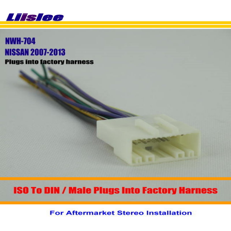 Liislee Car Stereo Radio ISO Wiring Harness Connector Cable For NISSAN Juke Murano NV2500 NV3500 Installation aftermarket stereo wiring harness connectors on aftermarket aftermarket radio wiring harness at gsmx.co