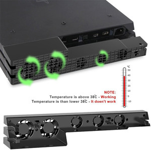 Image 1 - DOBE PS4 برو مروحة التبريد الخارجية 5 برودة مروحة سوبر توربو درجة الحرارة التبريد USB كابل ل بلاي ستيشن 4 برو الألعاب وحدة التحكم