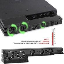 Dobe ps4 pro ventilador de refrigeração externo 5 cooler ventilador super turbo cabo usb para playstation 4 pro gaming console