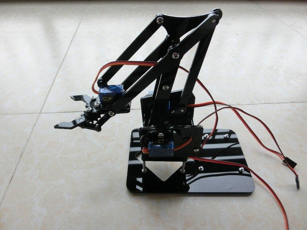 Bricolage acrylique Robot bras robotique griffe manipulateur Arduino Kit 4 DOF jouets mécanique saisir manipulateur partie accessoire